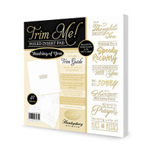Hunkydory Crafts Trim Me Gold-Foiled Thinking of You Inserts for Cards - 42 Sheets