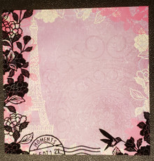 4pc 12X12 Flocked Papers Moments HOTP-20677