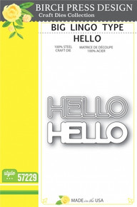Birch Press Design Big Lingo Type Hello Cutting Die- 57229