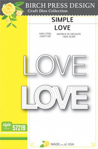 Birch Press Design Simple Love Cutting Die- 57219