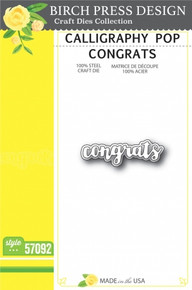 Birch Press Design Calligraphy Pop Congrats Cutting Die- 57092