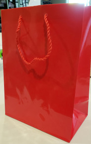 Red Gift Bags- 9.5x7 in- 3 pc