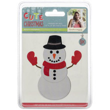 "Sara Signature Cute Christmas Die- Build-A-Snowman, Metal, Silver, 2.3""x2.8"" cm"