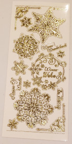 HOTP Gold Engraved Dazzles Snowflakes 2621 G