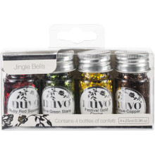 Tonic Studios 287N Jingle Bells Nuvo Pure Sheen Confetti (4 Per Pack), Multicolor
