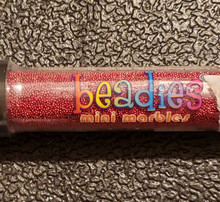 Beadies Mini Marbles- Red Metallic