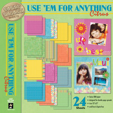 Use 'Em for Anything Citrus Backgrounds Paper Pizazz HOTP Scrapbooking Card Making Crafts