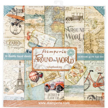 Stamperia Double-sided Paper Pad 12'x12' 10/pkg-Around the World, 10 Designs/1 Each Sbbl28
