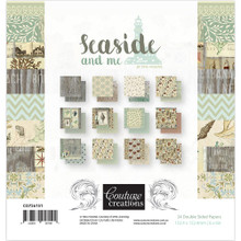 Couture Creations Double-Sided Paper Pack 6x6 24/Pkg- Seaside and Me