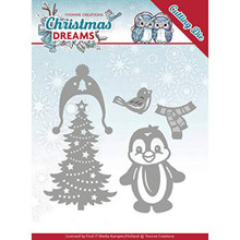 SPECIAL PURCHASE Yvonne Creations Christmas Dreams Penguin Die w/Magazine Bundle