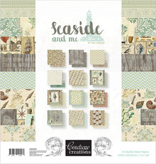 Couture Creations Double-sided Paper Pad 12''x12'' 24/pkg-seaside And Me, 12'