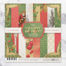 Couture Creations CO726890 Naughty or Nice 6.5 Inch x 6.5 Inch Paper Pad