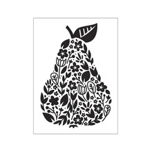 Darice Embossing Folder A6, Template Floral pear, Transparente