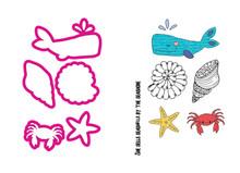 Prima Marketing Inc. Stamp & Die Set -- The Sea
