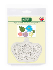 Katy Sue Designs, Stylised Flowers Silicone Sugarpaste Icing Mold for Cake Decorating, Sugarcraft, Cards, Crafts and Candies, Food Safe, Emma Boyes