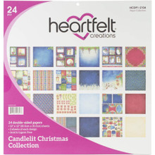 Heartfelt Creations Candlelit Christmas Collection- 12x12 Double Sided Paper Pack- HCDP1-2104