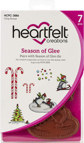 HEARTFELT CREATIONS HCPC-3886 Cling RUBBR STMP Set SEAS O GLE, Season of Glee
