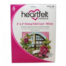 "Heartfelt Creations 6""X6"" Swing Fold Card- White- HCCB1-482"