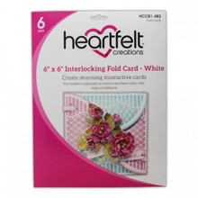 "Heartfelt Creations 6""X6"" Interlocking Fold Card- White- HCCB1-483"