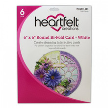 "Heartfelt Creations 6""X6"" Round Bi- Fold Card- White- HCCB1-481"