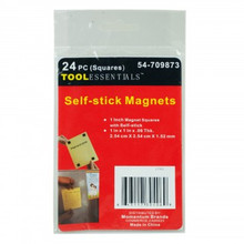 Tool Essentials Self Stick Magnets- 24 1 in x 1 in x .06 squares