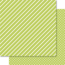 Ruby Rock-It Bella Hearts & Stripes Foiled Cardstock 12'X12'-Lime
