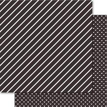 Ruby Rock-It Bella Hearts & Stripes Foiled Cardstock 12'X12'-Indigo