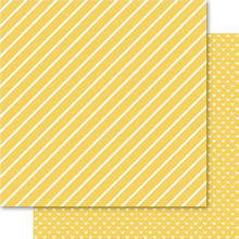 Ruby Rock-It Bella Hearts & Stripes Foiled Cardstock 12'X12'-Gold