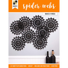 DCWV 614578 Spider Webs Paper Project, Multicolor