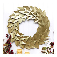 DCWV 614577 Gold Glitter Wreath Paper Project, Multicolor