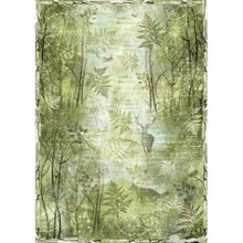 Stamperia Green Forest Rice Paper A3 - DFSA3049