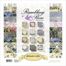 Ultimate Crafts Double-Sided Paper Pad 12'X12' 24/Pkg-Rambling Rose 12 Designs/2 Each