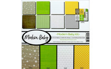 Reminisce Modern Baby Scrapbook Collection Kit Multi Color Palette