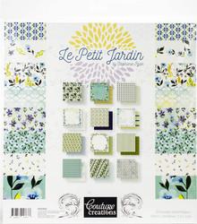 Couture Creations Double-Sided Paper Pad 12'X12' 24/Pkg-Le Petit Jardin, 12 Designs/2