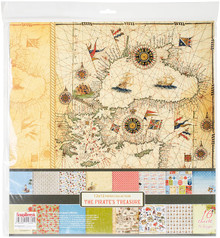 Scrapberry's The Pirate's Treasure Paper Pack 12'x12' 16/pkg-8 Double-sided