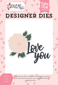 Echo Park Paper Company YM168040 Love You Floral Set die, Blue/Pin/Purple/Pastel/Yellow/Green/