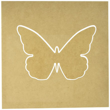 Kaisercraft SB2173 Beyond The Page MDF Butterfly Silhouette Wall Art Frame, 12 by 12-Inch