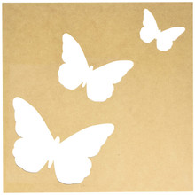 Kaisercraft SB2172 Beyond The Page MDF Flutter Silhouette Wall Art Frame, 12 by 12-Inch