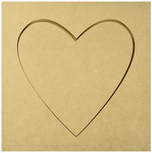 Kaisercraft SB2168 Beyond The Page MDF Heart Silhouette Wall Art Frame, 12 by 12-Inch
