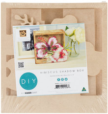 Kaisercraft Beyond The Page Mdf Hibiscus Shadow Box-7.5''x7.25''x2.25'''