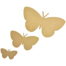 Kaisercraft Beyond The Page MDF Butterfly Wall Art ,12-Inch by 6-1/2-Inch, 7-1/2-Inch by 4-Inch, 4-1/2-Inch by 2-1/2-Inch