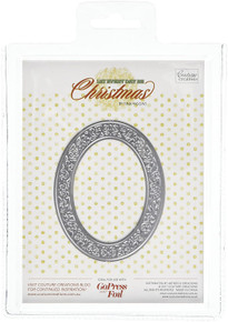 Couture Creations Ornate Christmas Frame Hotfoil Stamp, Metal Grey, 20.5 x 14.3 x 0.7 cm