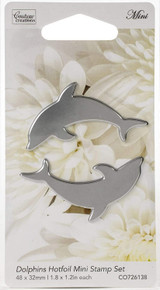 Couture Creations Hotfoil Mini Stamps, Dolphins