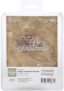 Couture Creations Highland Hotfoil Stamp, Happy Christmas 3.1''X1.2'''