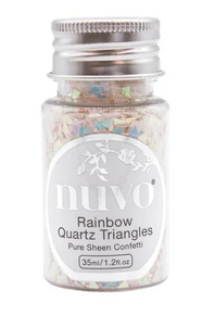 Nuvo Rainbow Quartz Triangles Confetti 1oz