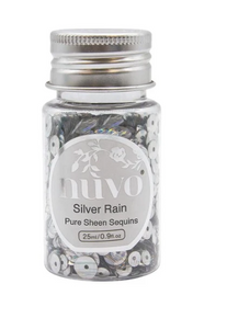 Nuvo Silver Rain Pure Sheen Sequins 1oz