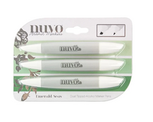 NUVO Dual Tip Alcohol Markers -- Emerald Seas