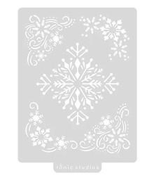 Tonic Studios Art Stencil Snowflake Flurry 5x7