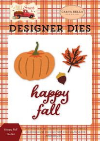 Carta Bella Paper Company - Happy Fall Set Paper die