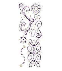 K&Company - Adhesive Gems - Purple Swirl - 7 Pieces